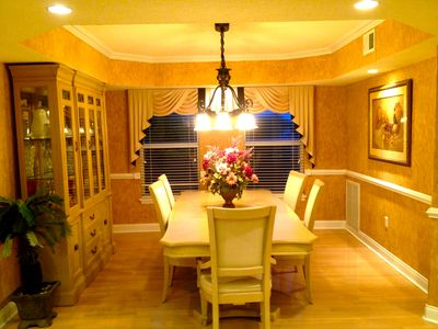 Dining room with seating for the family