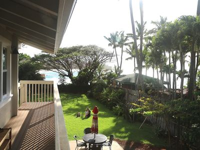 Afternoon relaxing. View from Bay View Suite side deck.