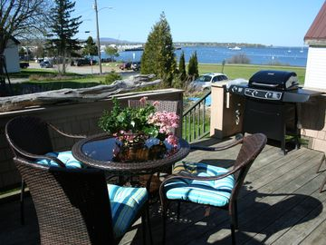 Rockland townhome rental - Back deck