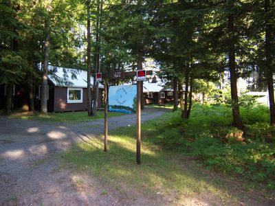 Glenfield cottage rental - Viewette and Deja View each have 75 feet of private lake front, dock and boat(s)