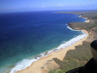 (from L to R) Papohaku Beach, Kepuhi Beach, Make Horse Beach and La'au Point