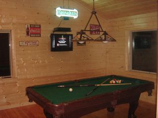Ellijay cabin photo - Enjoy our gameroom and our HD plasma TV!