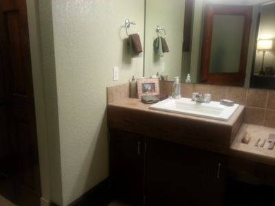 Bathroom Sink (all the extras provided...better than a hotel)!