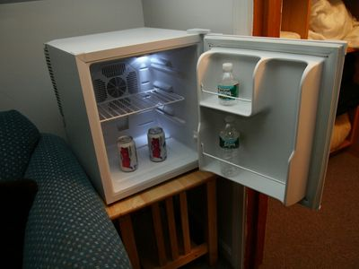Mini-refrigerator for Beverages in the Bunk Room