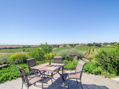 Patio Table with Expansive Vineyard Views