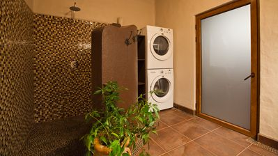 Guests have access to a washer and dryer, making vacations so much easier.