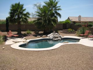 Tucson house photo - Pool and water feature