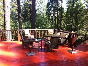 Arnold cabin rental - Life is good in the trees! Day or night the views are spectacular.