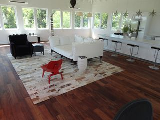 Governor's Harbour villa photo - Great Room with Phillipe Starck couch, all marble counters and bar with stools