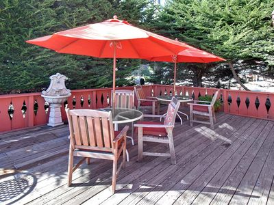 Santa Cruz house rental - 500+ SQ FT Deck Surrounded by the Cypress Hedge