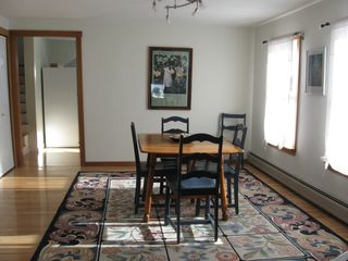 Lubec house photo - Dining area with hooked rug