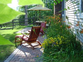New Paltz house photo - Come rest or have a picnic in our back garden on a quiet summer evening