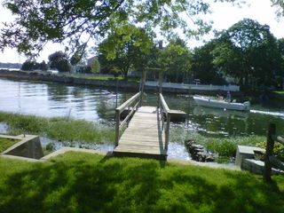 East Norwalk house photo - View of Water and Dock in Front of House