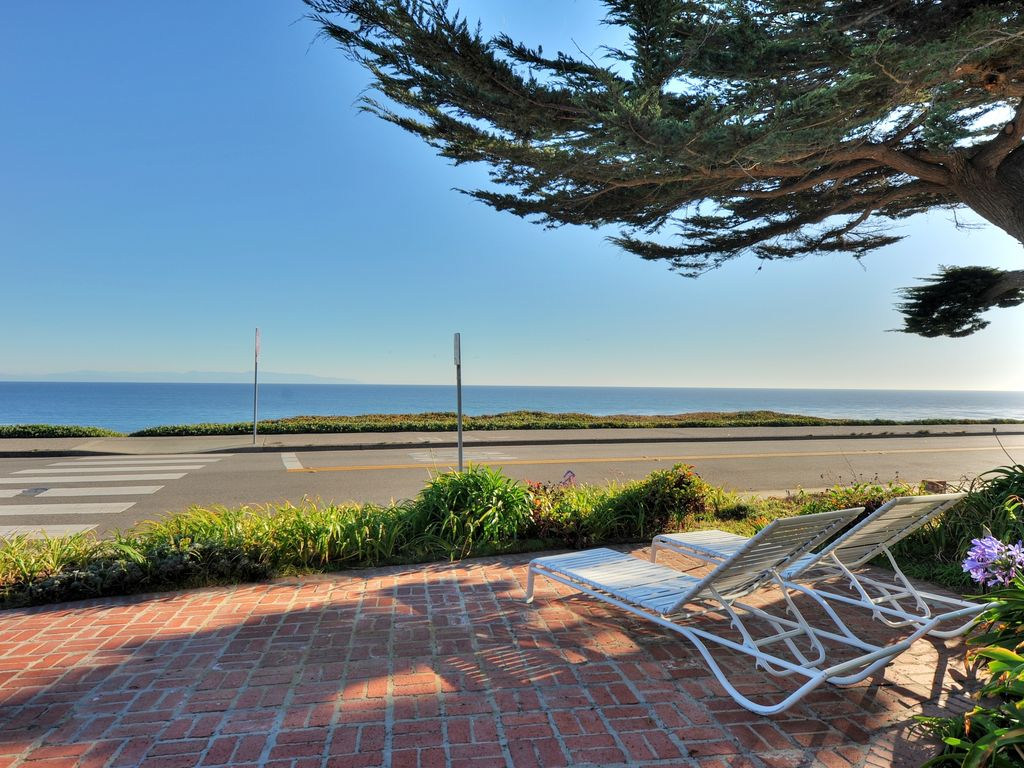 Ocean front on West Cliff Drive.