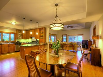 Spacious dining and with stainless steel appliances