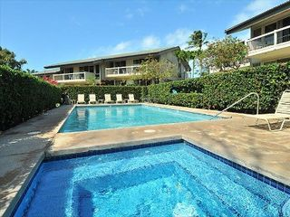 Napili condo photo - Tropical Lush pool & spa area. One of the few properties in Napili with a pool.
