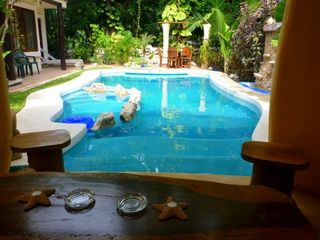 Pool as viewed from the gazebo. - Playa del Carmen villa vacation rental photo