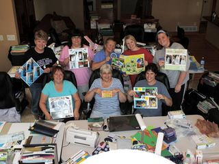 Amery house photo - Fun time scrapbooking