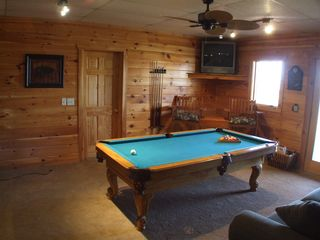 Gatlinburg cabin photo - Game Room with Pool Table,Darts,TV and Board Games for Children