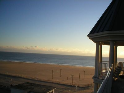 Belmont Towers Ocean City condo rental - Large Extended Balcony. View Of Beach & Boardwalk