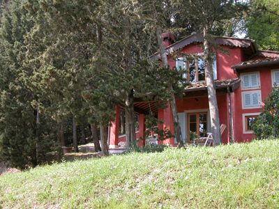 Barberino Val d'Elsa house rental - Exterior red house
