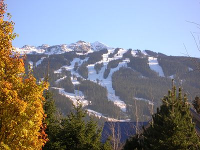 Ski runs on Blackcomb Mountain behind Glaciers Reach
