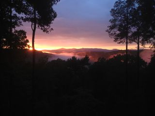 Ellijay cabin photo - NO Better SUNSET anywhere else!