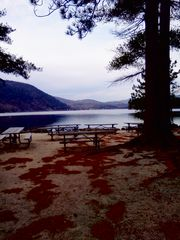 Newfound Lake cabin photo - Beach at Wellington State Park in fall