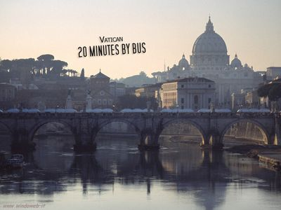 Walk to or reach by bus St Peter's and the Vatican!