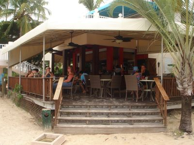Sangria's Bistro, on-site beachfront casual dining.