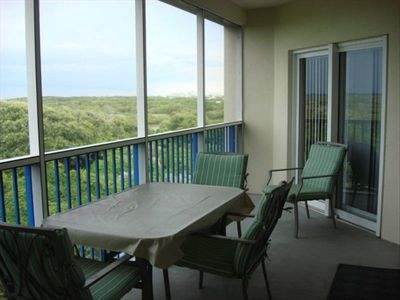 Spacious patio with beautiful view and wonderful sunsets