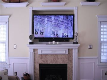Living Room 55 inch HD TV with DVR