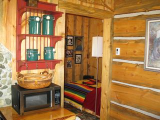 Big Timber cabin photo - View to the half entrance room with full size bed