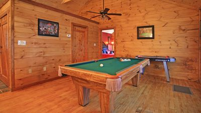 Game Area - Brand new high end pool table & a air hockey table