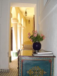 Medina house rental - Entering Riad Merstane