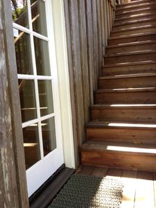 Staircase to entry door
