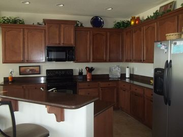 Kitchen with SS refrigerator/freezer and ice maker. Make yourself to home.