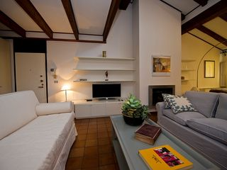 Bologna apartment photo - Sitting area. The beautiful Zironi sofa and the two-single sofabed.