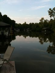 Lake Gaston cabin photo - View from the dock.