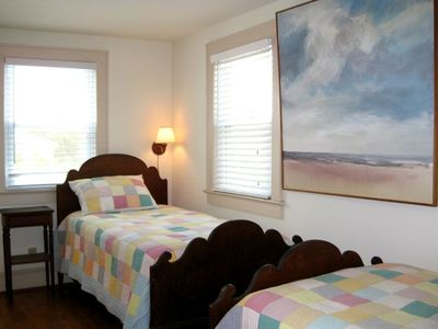 Sunset Bedroom has lots of natural light (4 windows) & a door to the Sun Deck