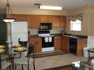 Newer kitchen with eat-in dining area.