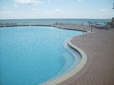 1 of 2 beachside lagoon style pools