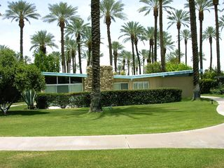 Rancho Mirage house photo - Exterior of house from green belt.
