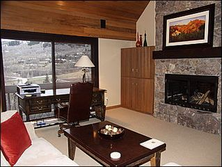 Snowmass Village house photo - Study w/Fireplace