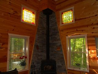 Ellijay cabin photo - Beautiful Stained Glass