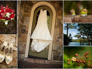 Big Canoe house photo - Wedding day collage
