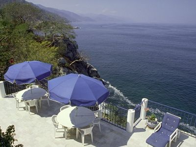 Puerto Vallarta house rental - terrace and ocean view