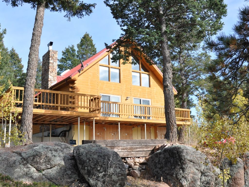 Beautiful secluded cabin on 2 5 acres homeaway florissant for Lake george cabins and rv park lake george co