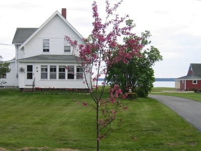 OCEAN FRONT FARM HOUSE ON 2 ACRES .
