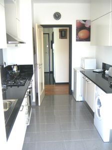 Funchal apartment rental - Large kitchen with f.doors leading to the balcony